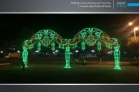 Украшение города Атырау компанией Design Pro фото 23