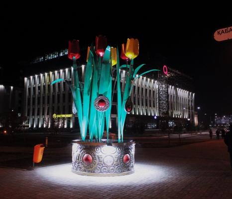 Оформление города к празднику Наурыз - фото Design Pro
